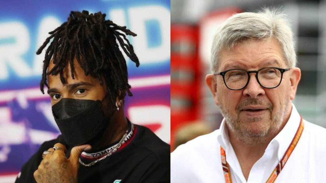 Lewis Hamilton and Ross Brawn