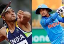 Neeraj Chopra and Mithali Raj - Khel Ratna Award 2021 nominees