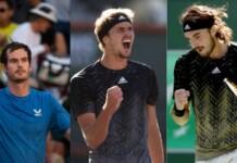 Andy Murray, Alexander Zverev and Stefanos Tsitsipas