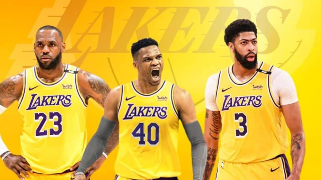 LA Lakers Trio - LeBron James, Russell Westbrook, Anthony Davis
