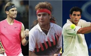 Rafael Nadal, Andre Agassi, Pete Sampras