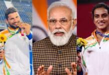 Rupinder Singh Pal, PM Modi and PV Sindhu