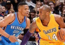 Russell Westbrook and Kobe Bryant