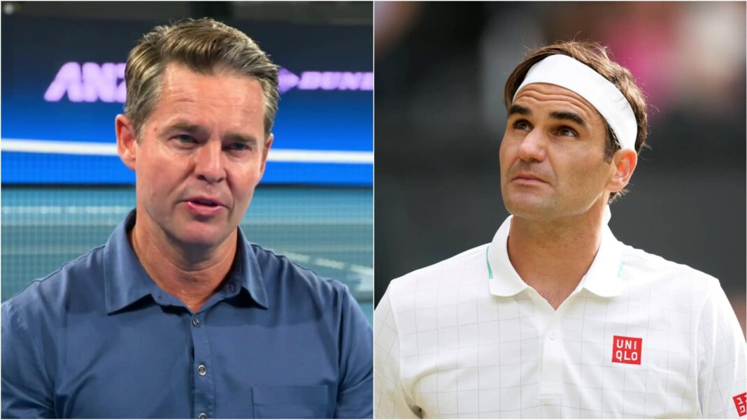 Todd Woodbridge and Roger Federer