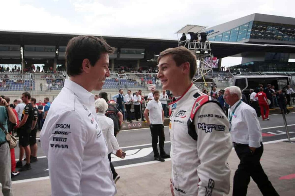 Toto Wolff and George Russell