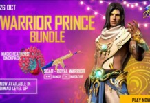 Warrior Prince Bundle in Free Fire