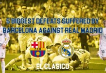 biggest defeats suffered by Barcelona