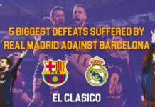 biggest defeats suffered by Real Madrid