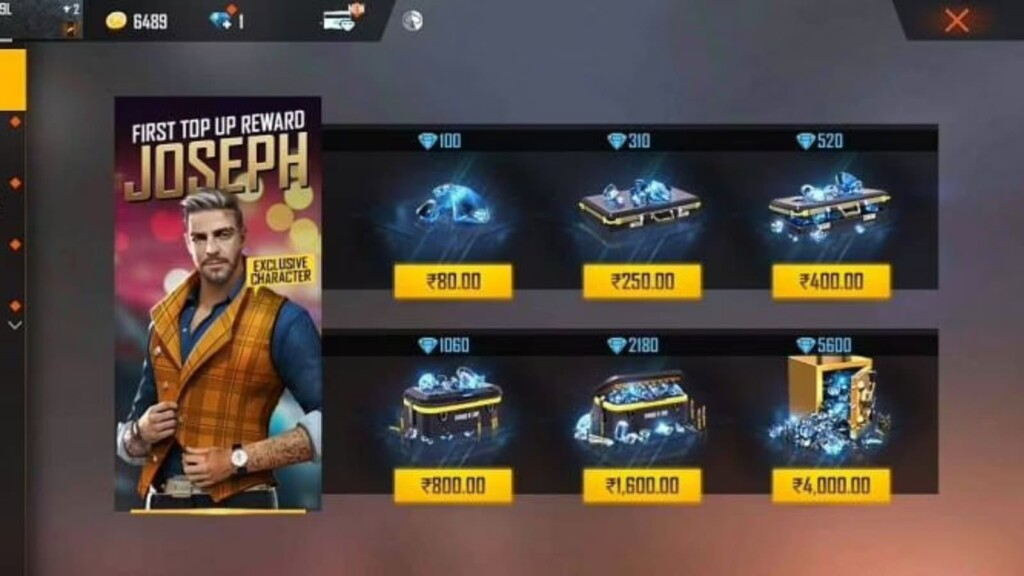 Top-Up Diamonds In Free Fire