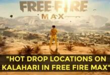 hot drop locations on kalahari in Free Fire Max