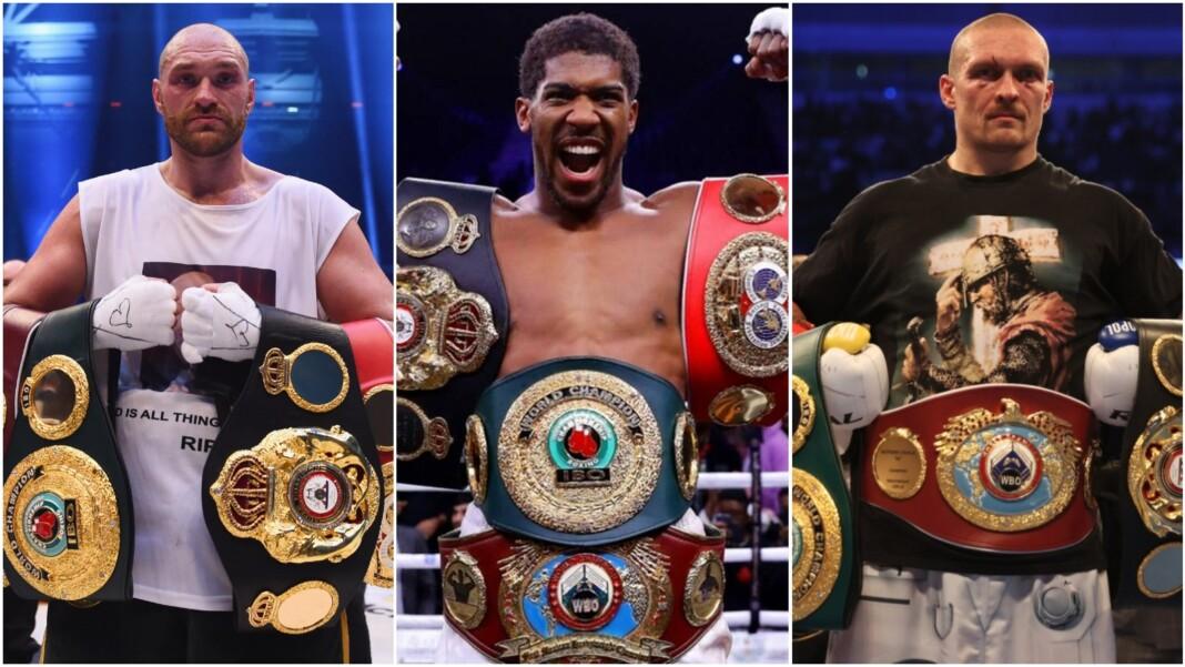 Tyson Fury, Anthony Joshua and Oleksandr Usyk